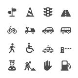Traffic icon set, vector eps10 Royalty Free Stock Photography