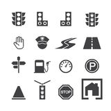 Traffic icon set Stock Photos