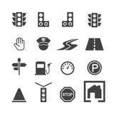 Traffic icon set. Web icon illustration design vector Stock Photos
