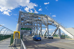 Traffic on iconic Story Bridge in Brisbane, Australia Royalty Free Stock Photography
