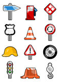 Traffic icons Stock Images
