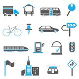 Traffic icons, metropolis icons Royalty Free Stock Image