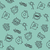 Traffic icons pattern Royalty Free Stock Images