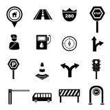 Traffic icons Royalty Free Stock Image