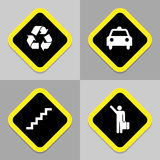 Traffic icons set great for any use. Vector EPS10. Royalty Free Stock Images