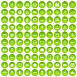 100 traffic icons set green. 100 traffic icons set in green circle isolated on white vectr illustration Stock Illustration