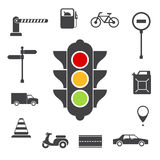 Traffic icons set Stock Photo
