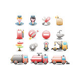 Traffic icons. Set of traffic and transportation icons Royalty Free Stock Image