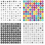 100 traffic icons set vector variant. 100 traffic icons set vector in 4 variant for any web design isolated on white Stock Photography