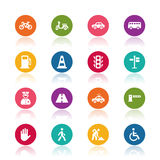 Traffic icons Royalty Free Stock Photos