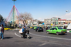 Traffic on Imam Khomeini square Royalty Free Stock Photo