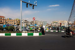 Traffic on Imam Khomeini square Stock Photography