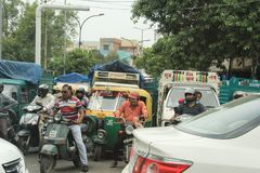 Traffic in India Stock Image