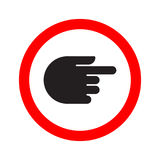Traffic indicator turn sign hand Stock Photography