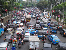 Traffic in Indonesia. Traffic in Jakarta, capital of Indonesia Royalty Free Stock Photo