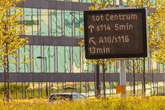 Traffic information sign in Amsterdam, The Netherlands Royalty Free Stock Photography