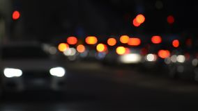 Traffic intersection - intentional defocused stock video
