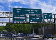 Traffic on Interstate. 95 outside of New York City Royalty Free Stock Photography