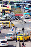 Traffic in Istanbul. Morning traffic in Istanbul in summer Royalty Free Stock Photography