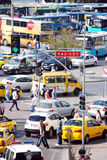 Traffic in Istanbul. Morning traffic in Istanbul in summer Stock Photos
