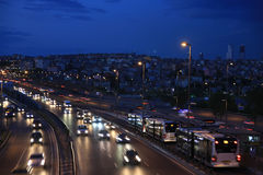 Traffic in istanbul at evening Stock Photos