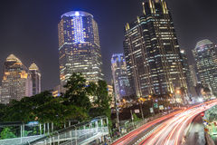 Traffic in Jakarta, Indonesia capital city Stock Images