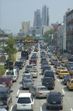 Traffic jam. Vertical photo of a traffic jam in Manhattan, New York, USA Stock Images