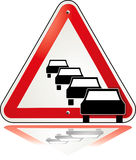 Traffic jam. Transportation, travel warning vector illustration