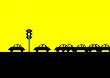 Traffic Jam. An iconic illustration of traffic jam vector illustration