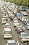 Traffic jam. Heavy traffic in rush hour in a modern city