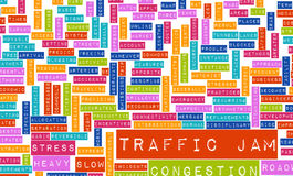 Traffic Jam. With Massive Frustration on Road vector illustration