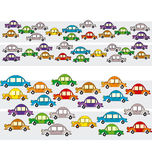 Traffic jam. Vector illustration of traffic jam Stock Photos