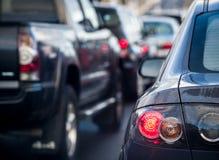 Traffic jam. Or congestion on rainy day Stock Photos