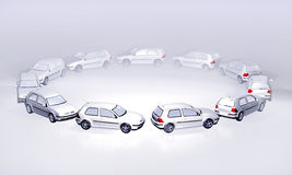 Traffic jam 3d Royalty Free Stock Photography
