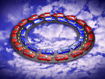Traffic jam 3d Royalty Free Stock Photo