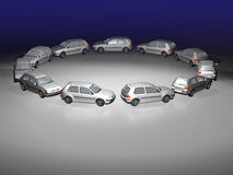 Traffic jam 3d Stock Photo