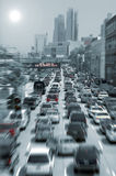 Traffic jam. Blurred traffic jam colored picture Stock Image