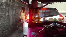 Daily traffic jam in the afternoon in Bangkok stock footage