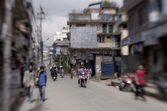 Traffic jam and air pollution in central Kathmandu Royalty Free Stock Photos