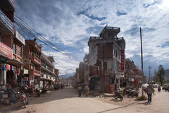Traffic jam and air pollution in central Kathmandu Stock Images