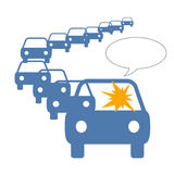 Traffic jam anger Royalty Free Stock Photography