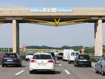 Traffic jam on Autobahn in Austria Stock Image