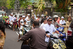 Traffic jam in Bali Royalty Free Stock Photography