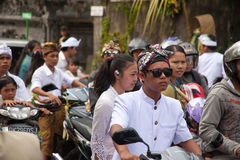 Traffic jam in Bali Stock Photography