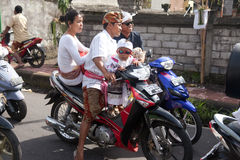 Traffic jam in Bali Stock Images