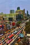 Traffic jam blues in the city Royalty Free Stock Photos