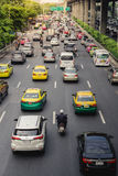 Traffic jam in Bangkok. Life of salary man. Traffic jam in Bangkok, Thailand. Life of salary man being busy on the road Stock Photo