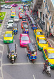 Traffic Jam in Bangkok Stock Images
