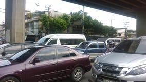 Traffic Jam. In Bangkok road Royalty Free Stock Photography