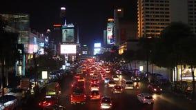 Traffic jam in Bangkok. BANGKOK - SEPTEMBER 17: Traffic jam in city center on September 17, 2013 in Bangkok, Thailand. Annually an estimated 150,000 new cars stock video